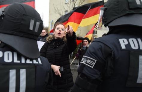 Pegida-Kundgebung in Mainz