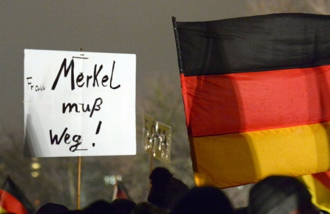 Pegida Demonstration in Dresden