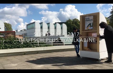 DeutschPlus Wahlkabine 2017 © DeutschPlus Hooray