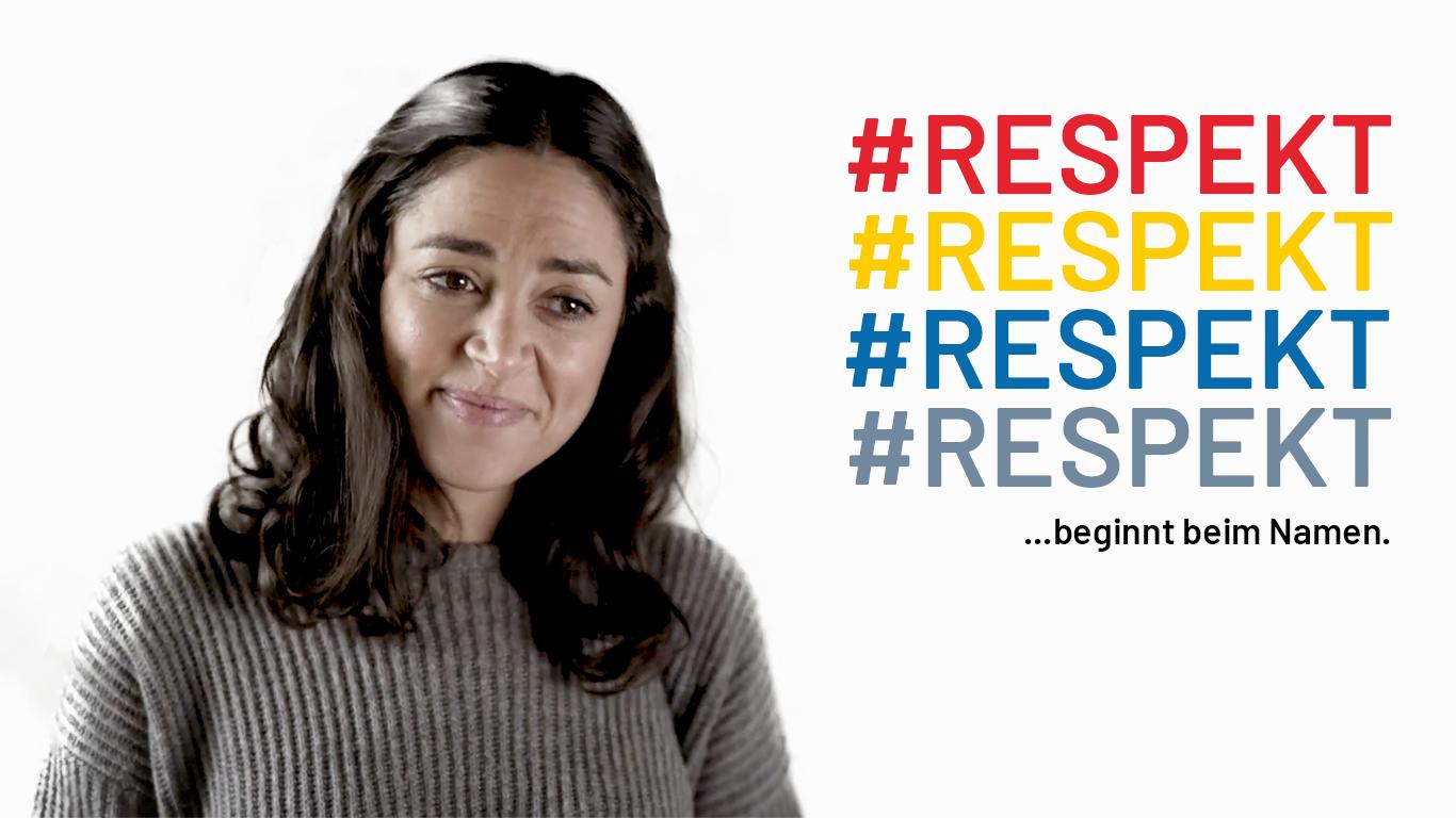 Respekt beginnt beim Namen Website Header